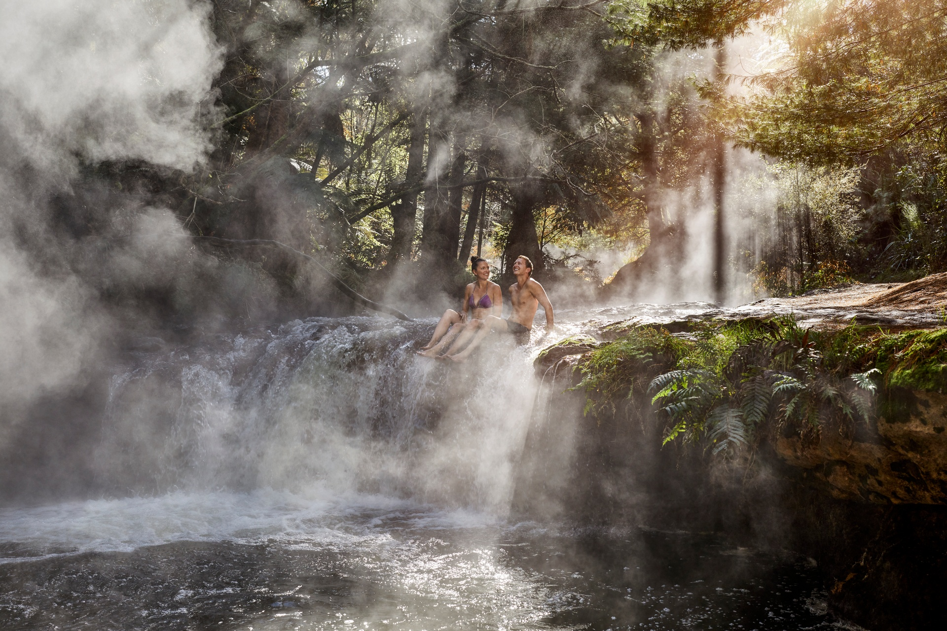 Kerosene Creek rainy, Rotorua